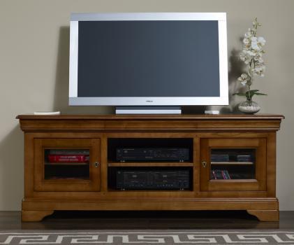 Meuble tv 16 9 me en merisier massif de style louis philippe meuble en meri - Meuble tele merisier ...