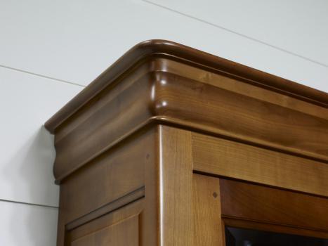biblioth que 3 portes flore en merisier massif de style louis philippe meuble en merisier. Black Bedroom Furniture Sets. Home Design Ideas