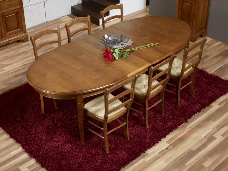 Table Ovale De Salle A Manger Estelle En Merisier Massif De Style