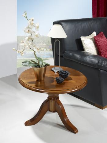Table basse ronde annie en merisier massif de style louis philippe meuble en merisier - Table basse louis philippe ...