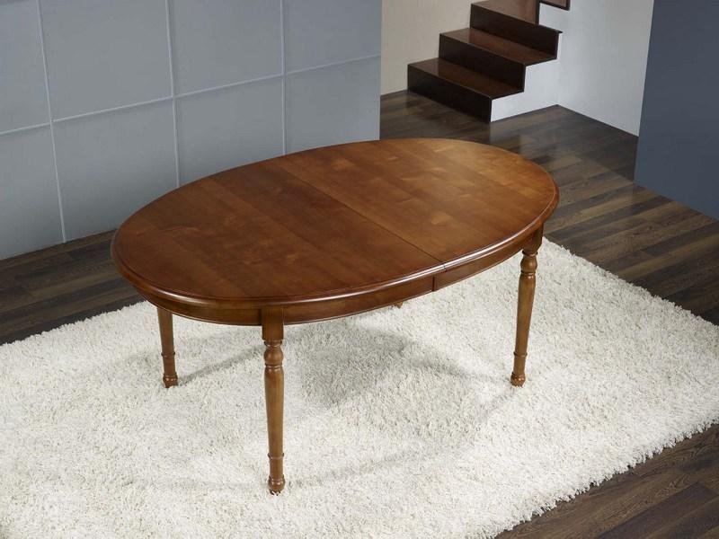 table ovale en merisier massif de style louis philippe 170 110 meuble en merisier. Black Bedroom Furniture Sets. Home Design Ideas