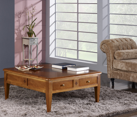 table basse en merisier de style directoire meuble en merisier. Black Bedroom Furniture Sets. Home Design Ideas