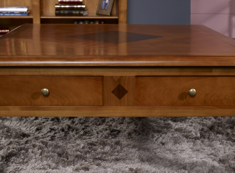 Table basse en merisier de style directoire meuble en merisier - Table basse ancienne en bois ...