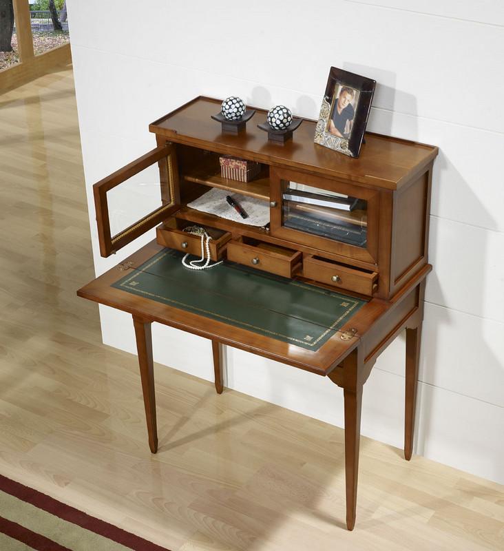 bonheur du jour laure en merisier de style directoire meuble en merisier. Black Bedroom Furniture Sets. Home Design Ideas