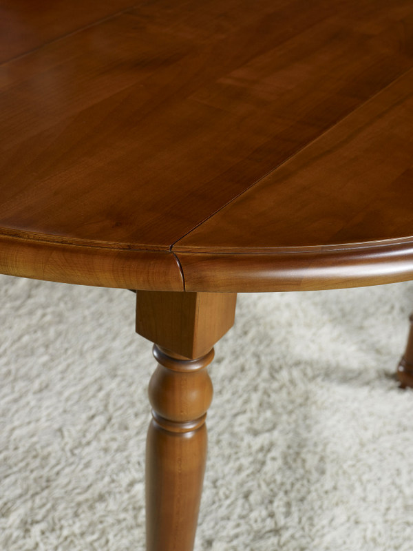 table ronde volets florence en merisier massif de style louis philippe diam tre 100 meuble. Black Bedroom Furniture Sets. Home Design Ideas