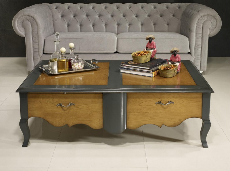cool table basse zo de style louis xv ralise en merisier with table basse louis philippe merisier. Black Bedroom Furniture Sets. Home Design Ideas