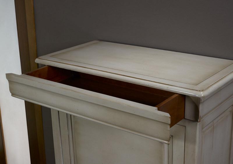 secr taire en merisier massif de style louis philippe finition merisier gris antiquaire meuble. Black Bedroom Furniture Sets. Home Design Ideas
