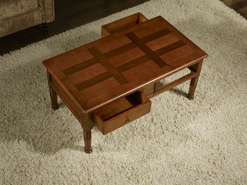 Table basse agathe en merisier de style louis philippe plateau marquette meuble en merisier - Table basse louis philippe ...