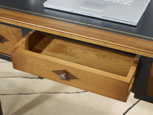 Bureau 3 tiroirs 1 2 ministre bérangère en merisier de style