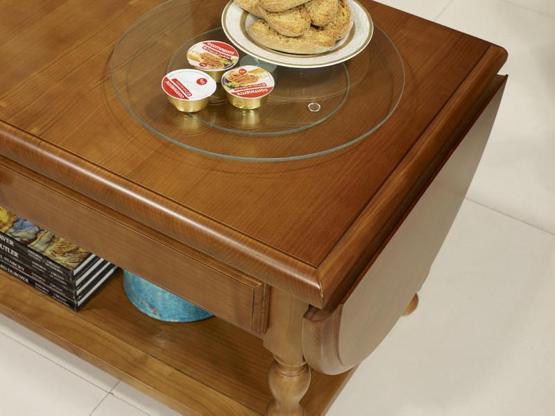 table basse volets laure en merisier massif de style louis philippe meuble en merisier. Black Bedroom Furniture Sets. Home Design Ideas
