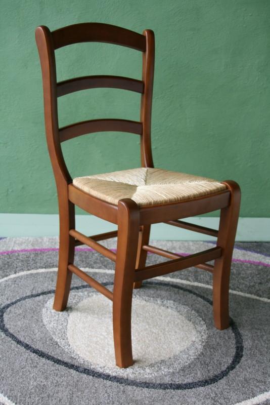 chaise en hetre massif de style louis philippe assise paille de seigle meuble en merisier. Black Bedroom Furniture Sets. Home Design Ideas