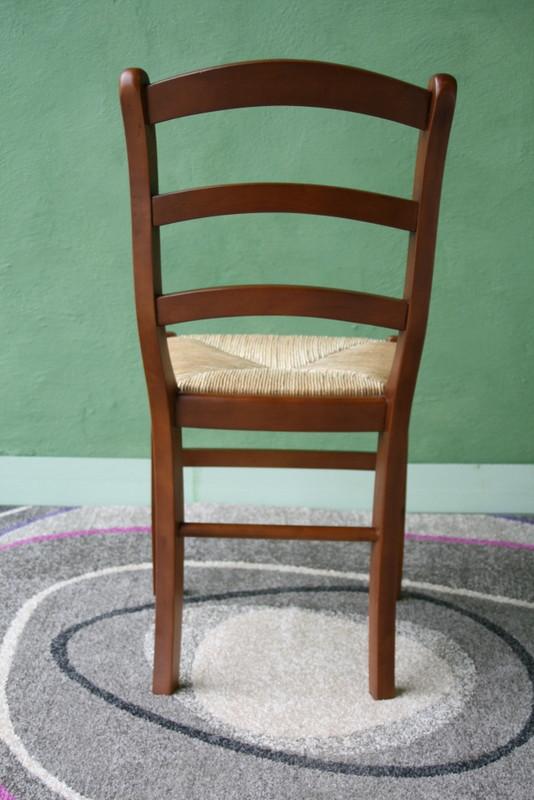 Chaise en hetre massif de style louis philippe assise paille de seigle meuble en merisier - Assise de chaise en paille ...