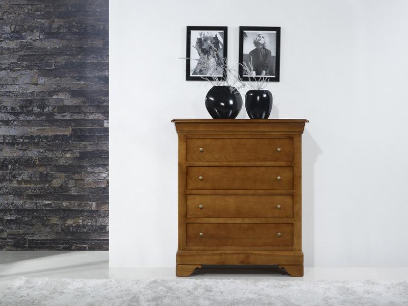 Commode 4 tiroirs nathalie en merisier de style louis philippe meuble en merisier - Commode louis philippe merisier ...