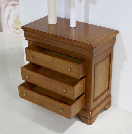 Petite commode 4 tiroirs en merisier massif de style louis philippe meuble en merisier - Commode louis philippe merisier ...