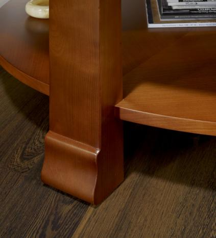 table basse ronde elsa en merisier de style contemporain meuble en merisier. Black Bedroom Furniture Sets. Home Design Ideas