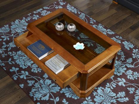 table basse en merisier massif de style louis philippe tiroir vitrine meuble en merisier. Black Bedroom Furniture Sets. Home Design Ideas