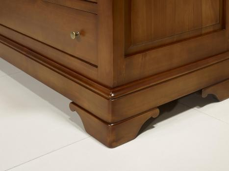 commode 4 tiroirs en merisier massif de style louis philippe meuble en merisier. Black Bedroom Furniture Sets. Home Design Ideas