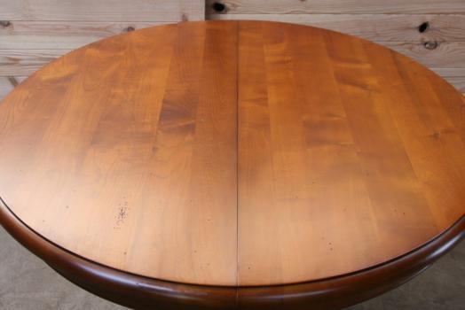 Table ronde am liediametre 105 pieds central de style - Table ronde pied central avec rallonge ...
