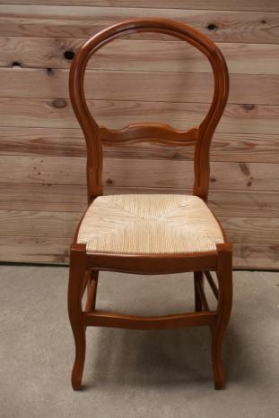 Tr s belle chaise sandra en h tre massif de style louis philippe meuble en merisier - Chaise style louis philippe ...