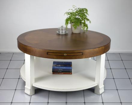 Table basse ronde for Table basse salon ronde ou ovale