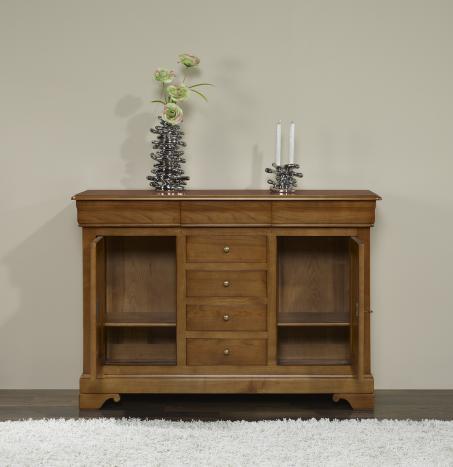 petit buffet 2 portes a en merisier massif de style louis philippe meuble en merisier. Black Bedroom Furniture Sets. Home Design Ideas